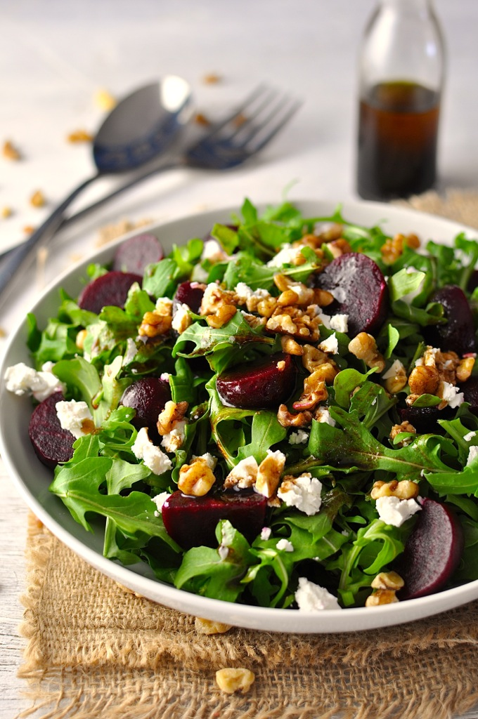 ROCKET , BEETROOT, WALNUTS AND FETA Salad | Karma Clinic