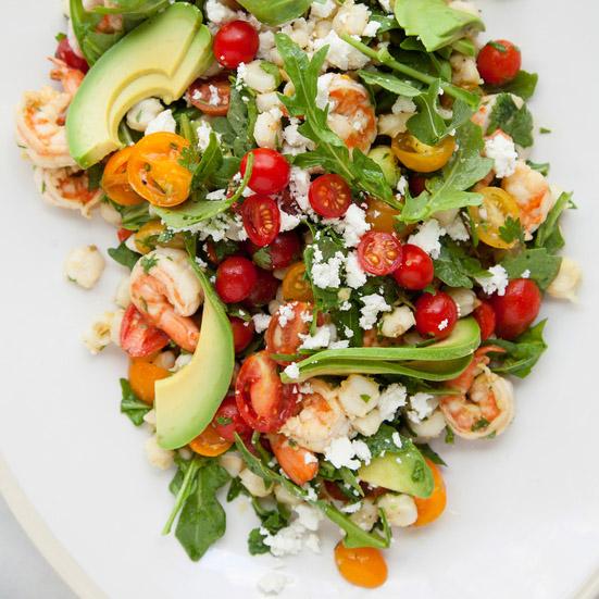 Shrimp Salad with Arugula and Lime   Karma Clinic