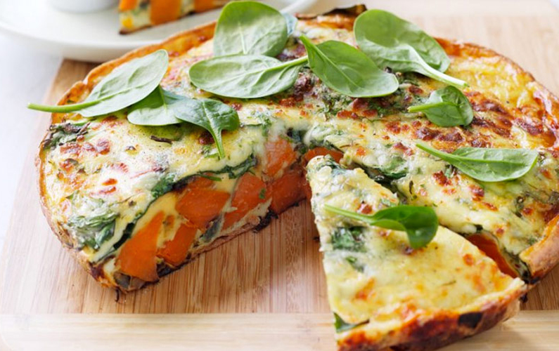 Sweet Potato Frittata Recipe — Dishmaps
